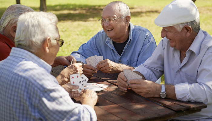 Caregivers help elderly adults to stay social