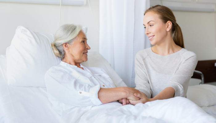 Helping a senior recover after a hospital stay