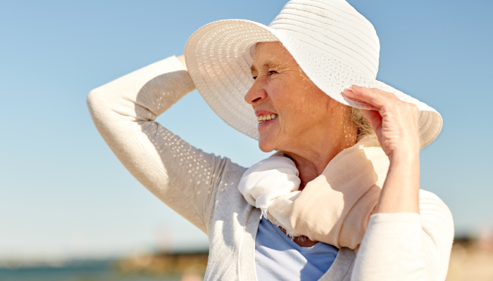 Sun protection and hydration for seniors