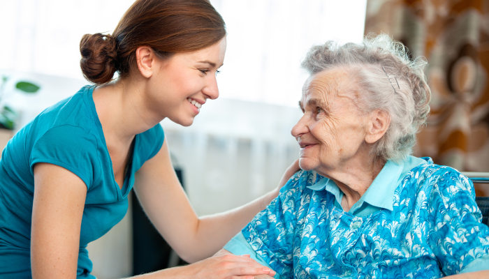 A senior benefits from consistent companionship