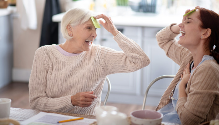 The health benefits of laughter and humor for seniors and family caregivers