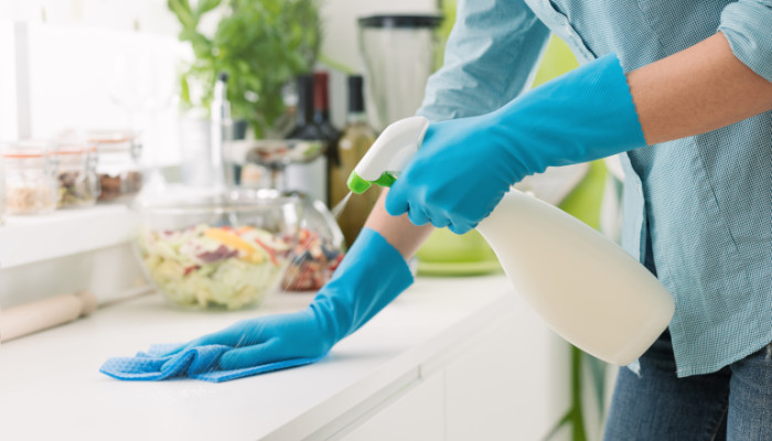 Disinfecting household surfaces for seniors
